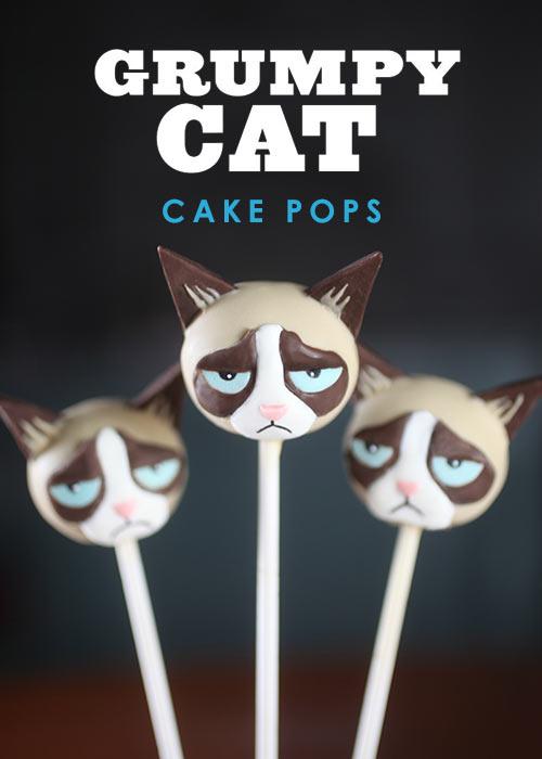 Grumpy Cat Amp Boo Cake Pops