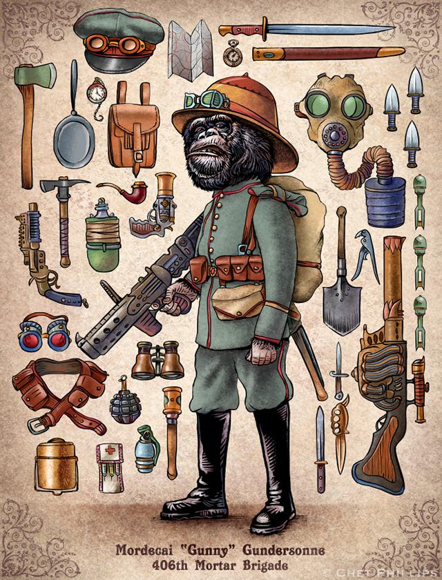 Gundersonne - Steampunk Monkey Nation and Gear