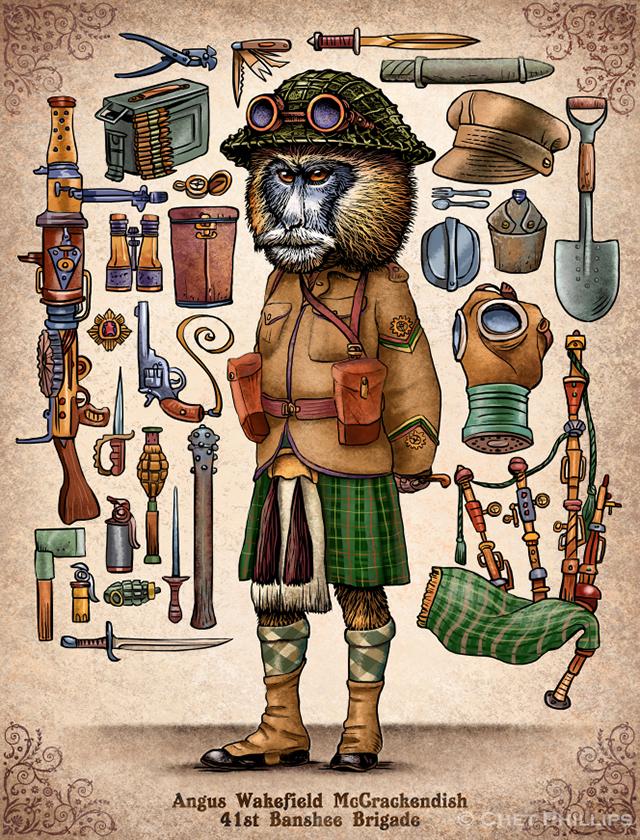 McCrackendish - Steampunk Monkey Nation and Gear