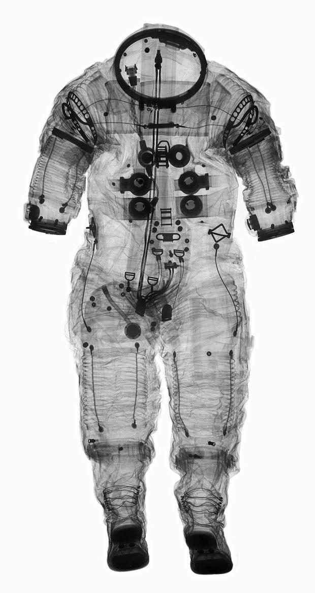 X-ray photos of NASA spacesuits