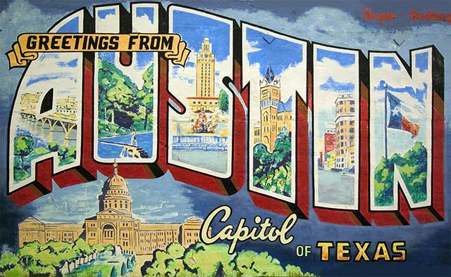 Austin Postcard Mural Rory Skagen
