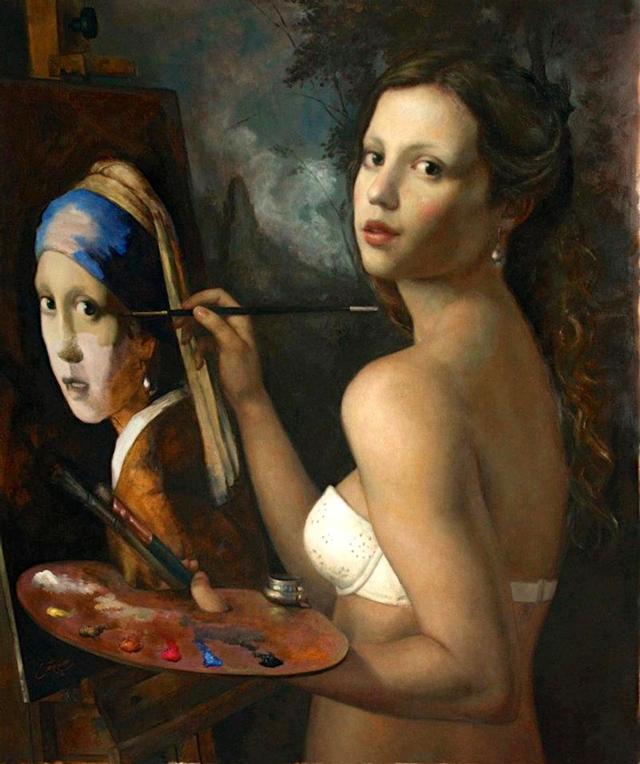 Syncretism, Painting Series Reinterprets Classic Works of Art