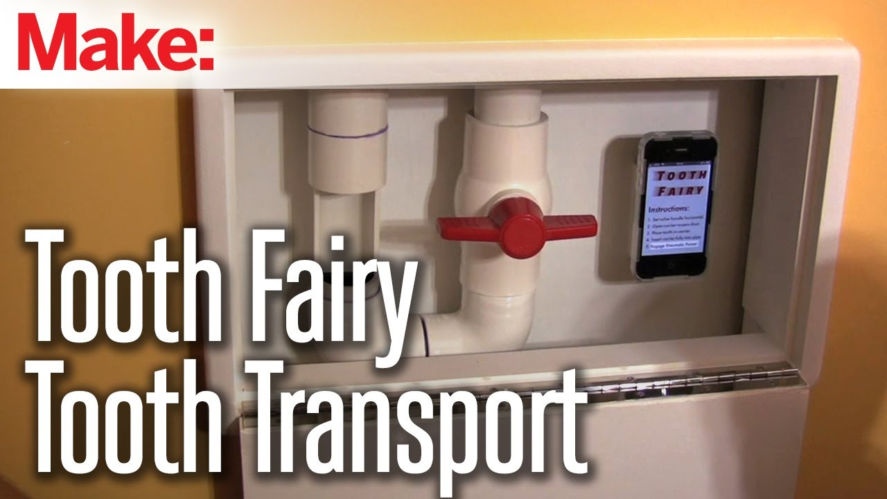 Diy pneumatic tube system for delivering teeth to the