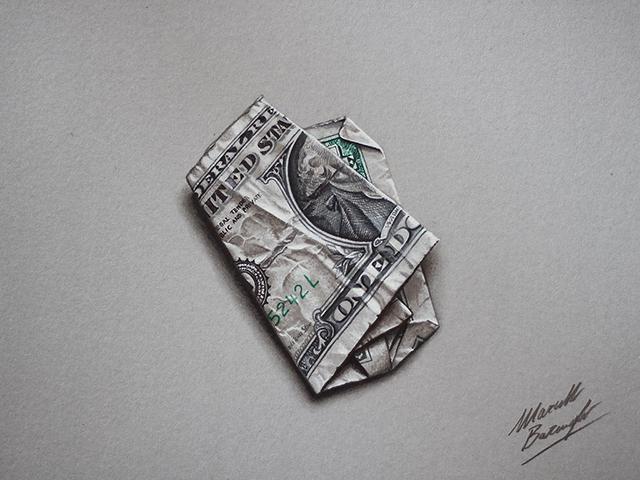 Folded One-Dollar Bill