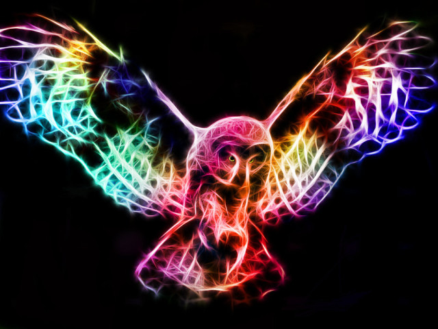 fractals colorful digital illustrations of animals