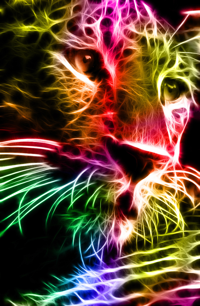 colorful leopard backgrounds artistic - photo #35
