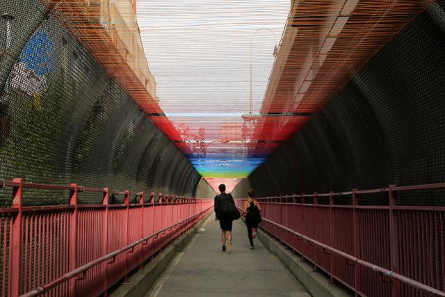 Williamsburg Bridge yarn rainbow by HOTTEA