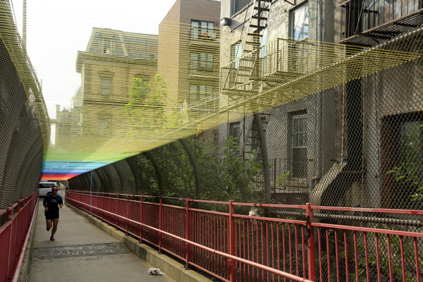 Williamsburg Bridge yarn rainbow by HOTTEA