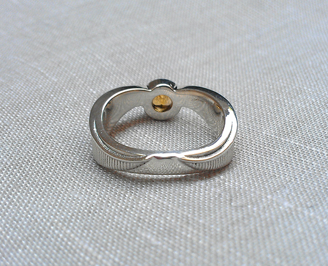 Harry Potter Golden Topaz Snitch Ring