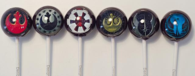 Star Wars Rebel Alliance Galactic Empire Insignia Lollipops