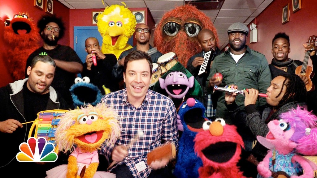 Jimmy Fallon, Muppets, & The Roots Play the 'Sesame Street' Theme Song on Classroom Instruments