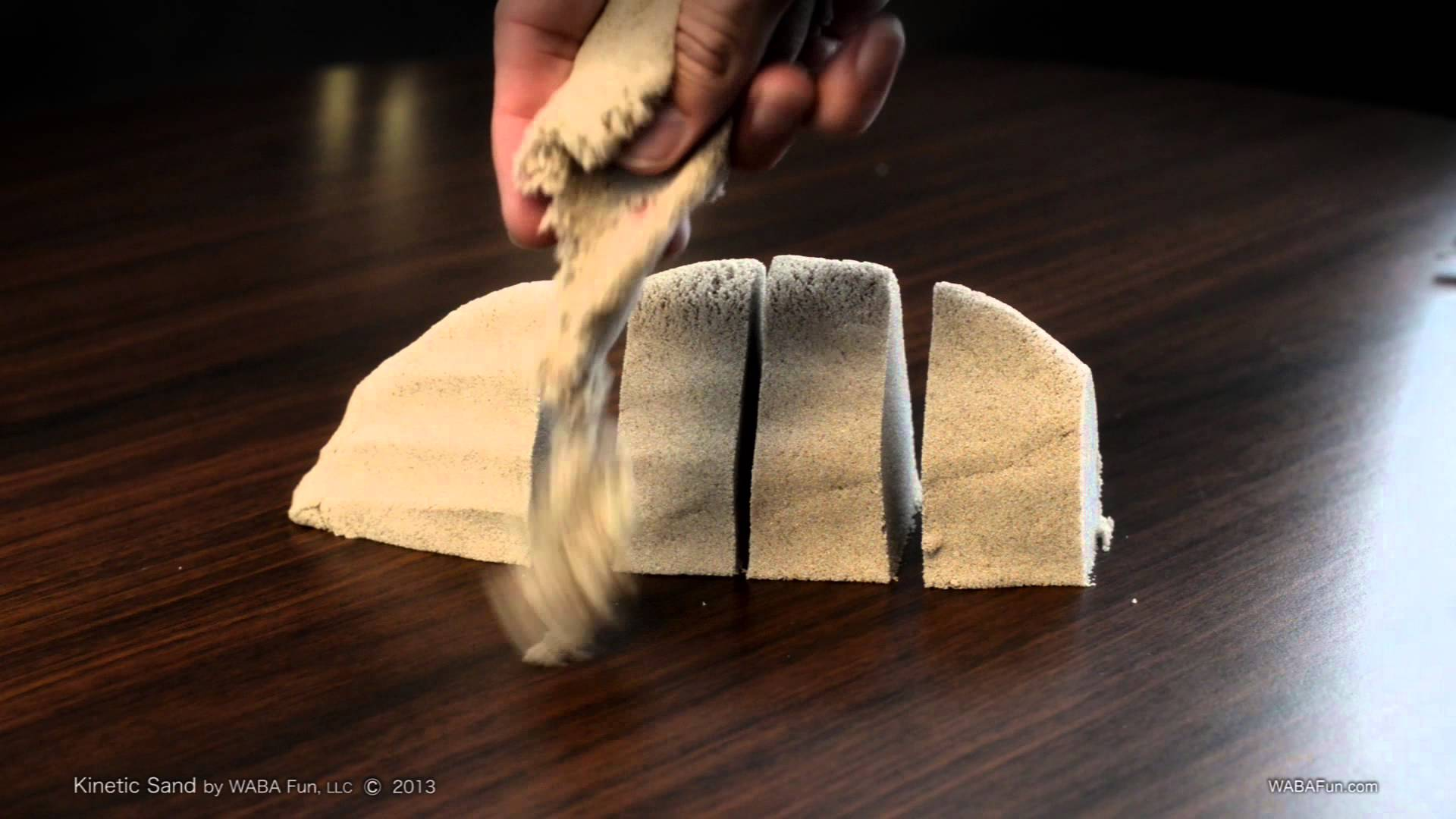 Kinetic Sand, A Fun Material That Looks Like Squishy Sand