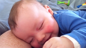 Baby Laughing While He Sleeps
