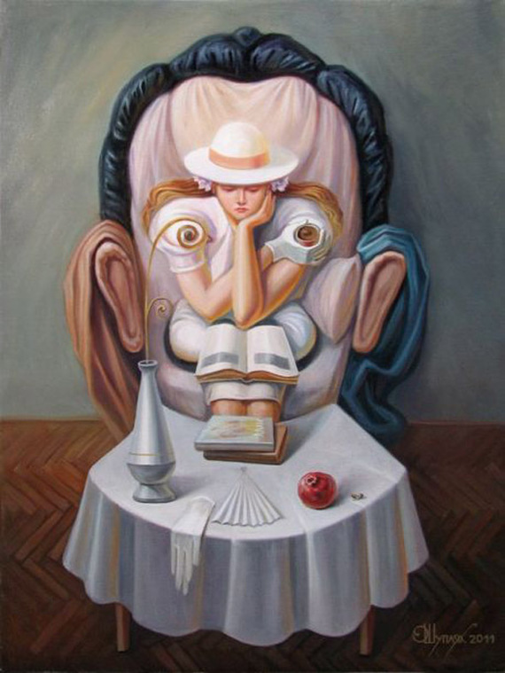 optical illusion form human faces paintings face objects oleg shuplyak figures painting portraits illusions these created person funny eye illusionist