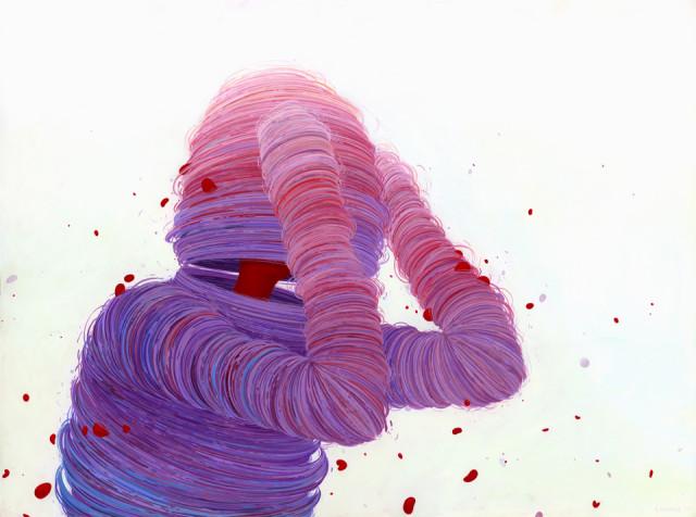 Colorfully Textured Figure Paintings by Brendan Monroe