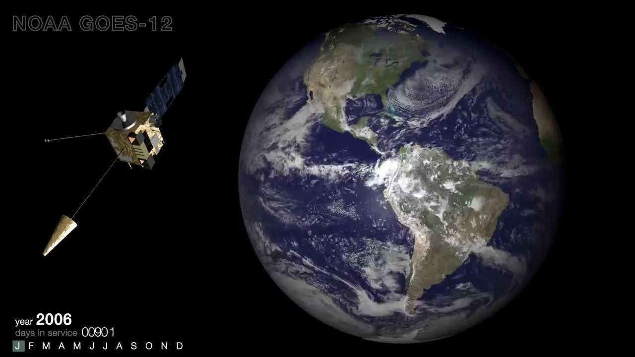 Satellite Footage Of Ten Years Of Weather History - Satellite footage