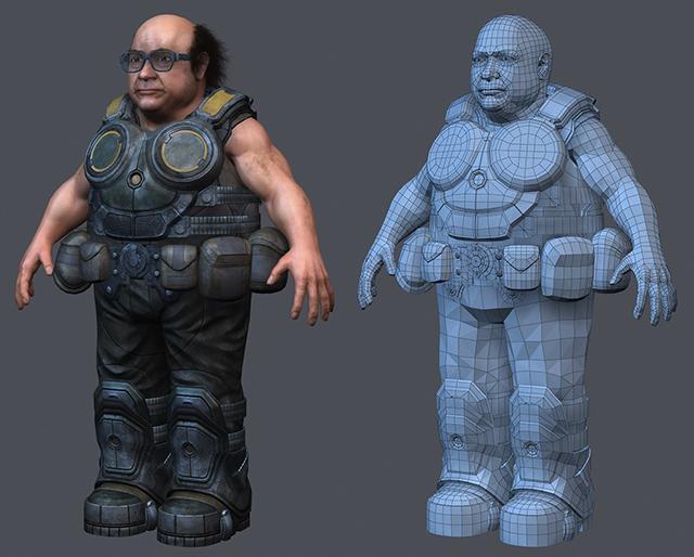 Danny DeVito in the Gears of War universe