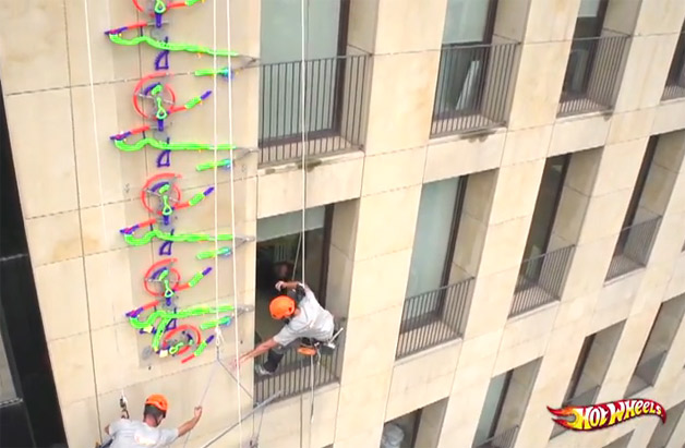World's Highest Hot Wheel Wall Track