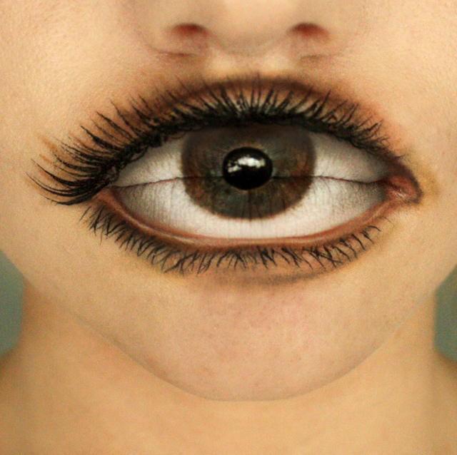 Eyeball Painted on Lips