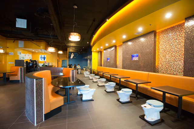 Toilet-Filled Magic Restroom Cafe Opens in Southern California