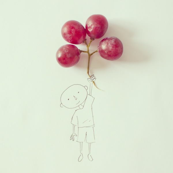 Everyday Objects Melded With Simple Illustrations
