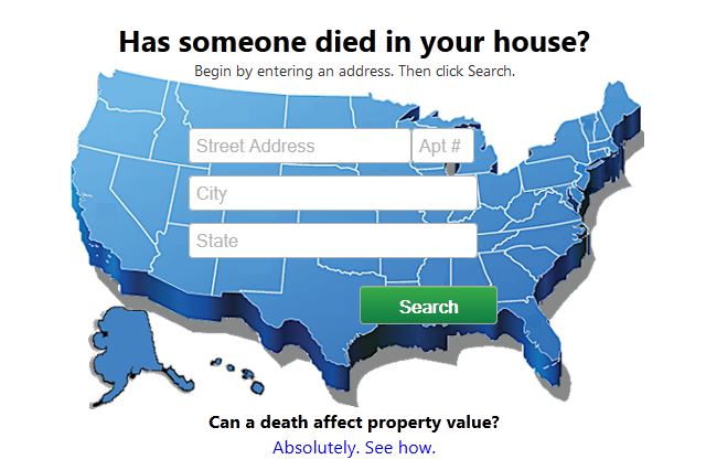 find out if someone died in your house