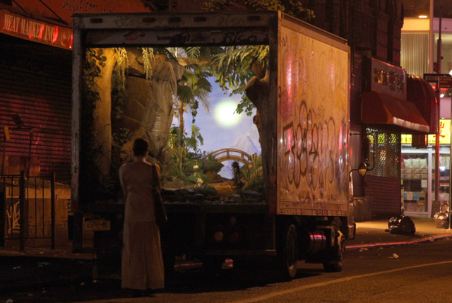 Banksy converts a new york city delivery truck into a for Moving from new york