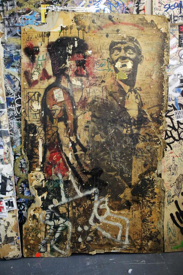 Photos of CBGB's original walls