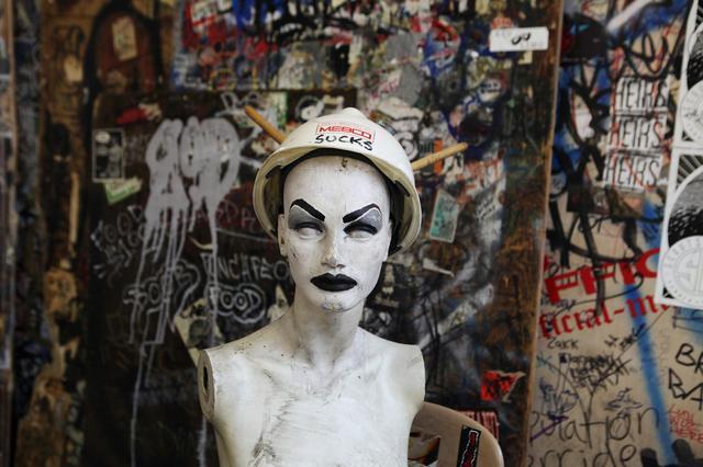 Photos of CBGB's original walls