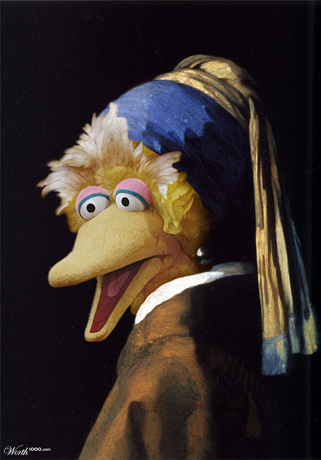 The Bird with the Pearl Earring by spcanlas