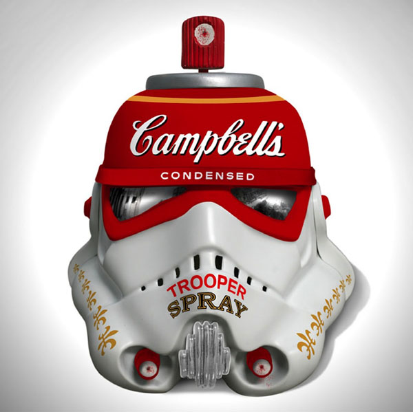 Art Wars, Famous Artists Redesign 'Star Wars' Stormtrooper Helmets