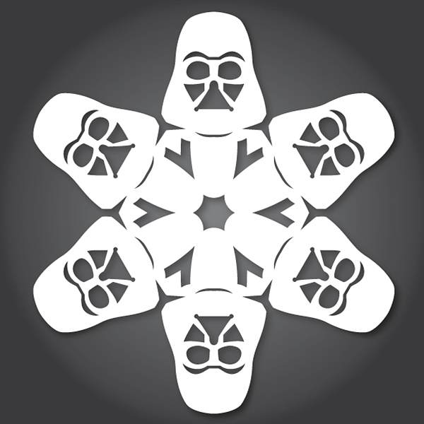 Darth Vader Star Wars Snowflake