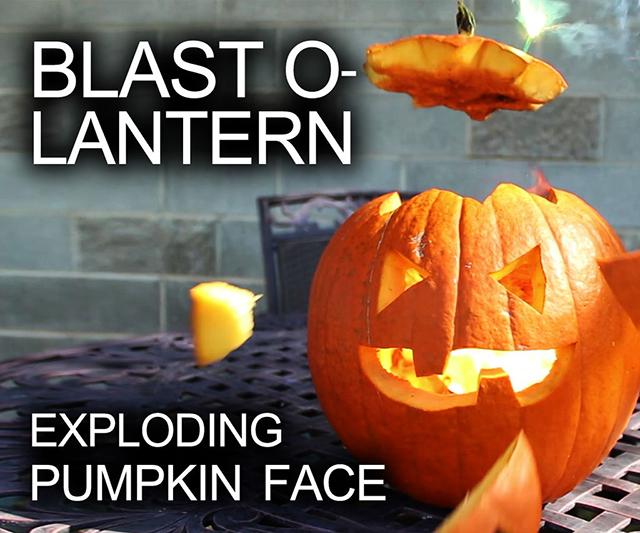 How to Make an Exploding Pumpkin Face