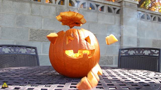 Exploding Pumpkin Face