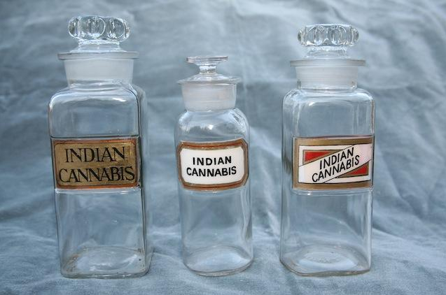 Vintage Pharmaceutical Cannabis Bottles