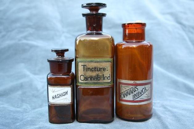 Cannabis bottles