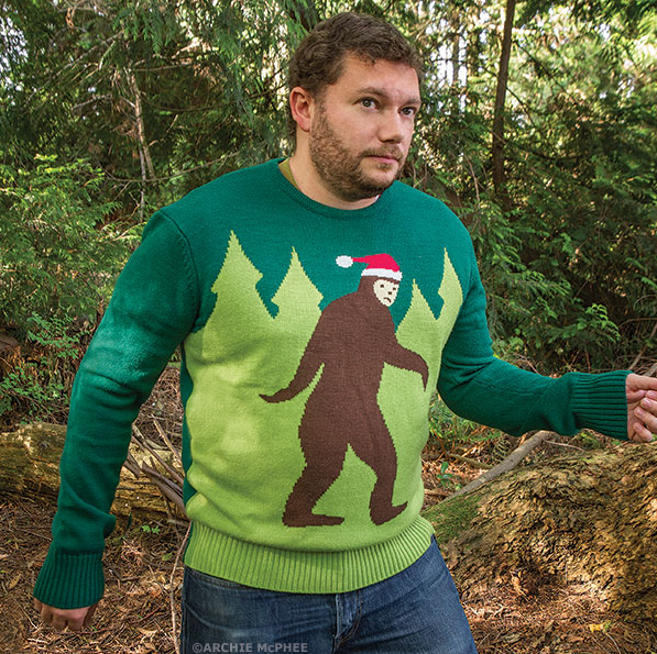 A 'Horribly Distasteful' Christmas Sweater Featuring Bigfoot