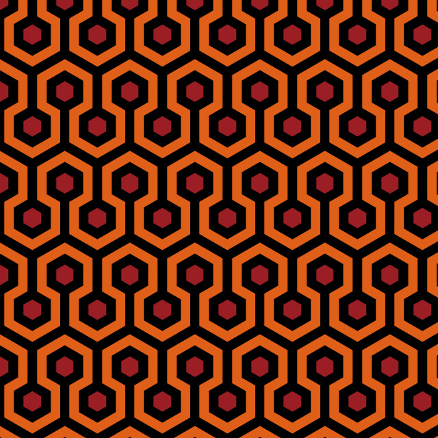 Fabric Pattern Based On The Iconic Carpet In The Movie