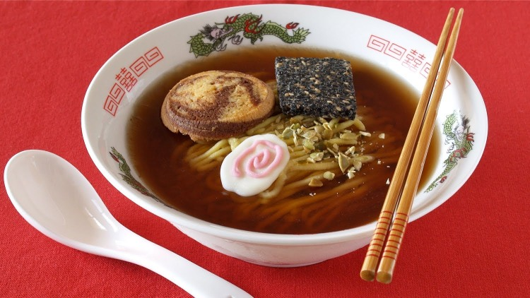 A Cake Made to Look Like a Real Bowl of Ramen
