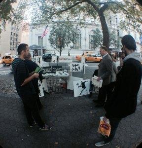 Fake Banksy Art Booth