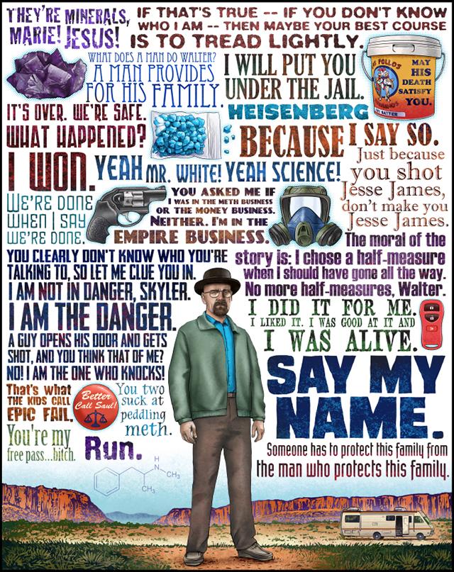 Heisenberg, Bueller, and Red Ryder Print Series by Chet Phillips