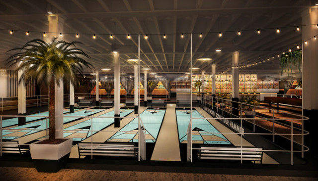 The Royal Palms Shuffleboard Club in Brooklyn