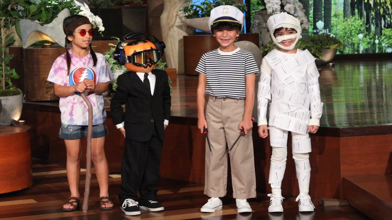 ellen shares a fun collection of last minute costume ideas for kids