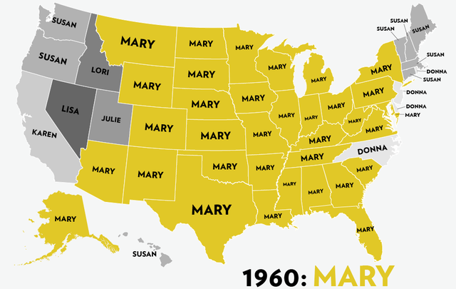 Map of Girl Names