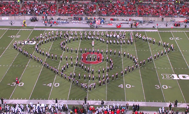 The Ohio State Marching Band Performs Tribute To Movies During 'Hollywood  Blockbuster' Halftime Show