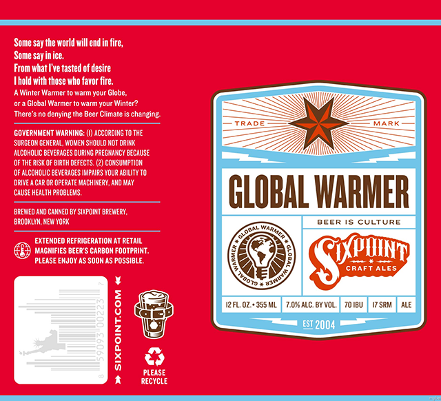Global Warmer Beer by Sixpoint