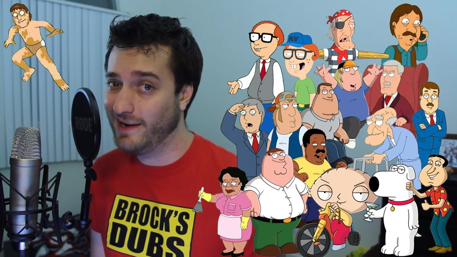 Impressions of Eighteen 'Family Guy' Characters in Three Minutes