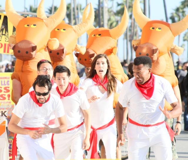 Improv Everywhere Running of the Bulls