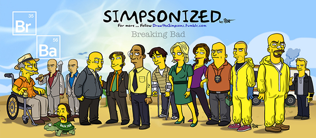 Breaking Bad Series Simpsonized