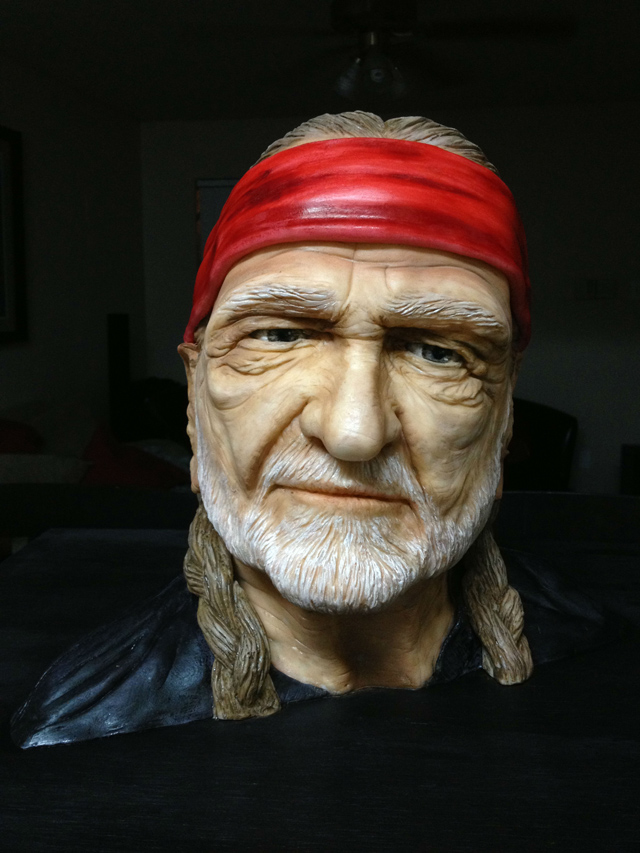 A Cake Made in the Likeness of Willie Nelson